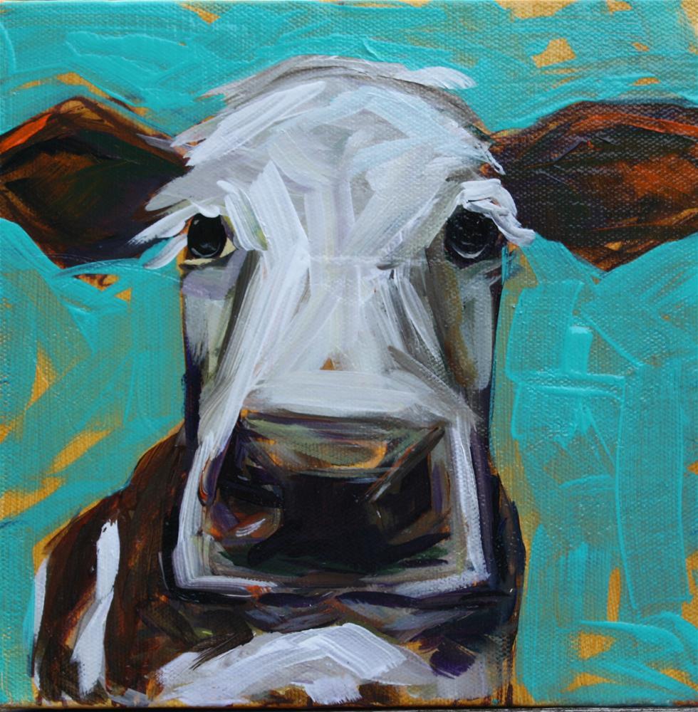 """Moo"" original fine art by Kandice Keith"
