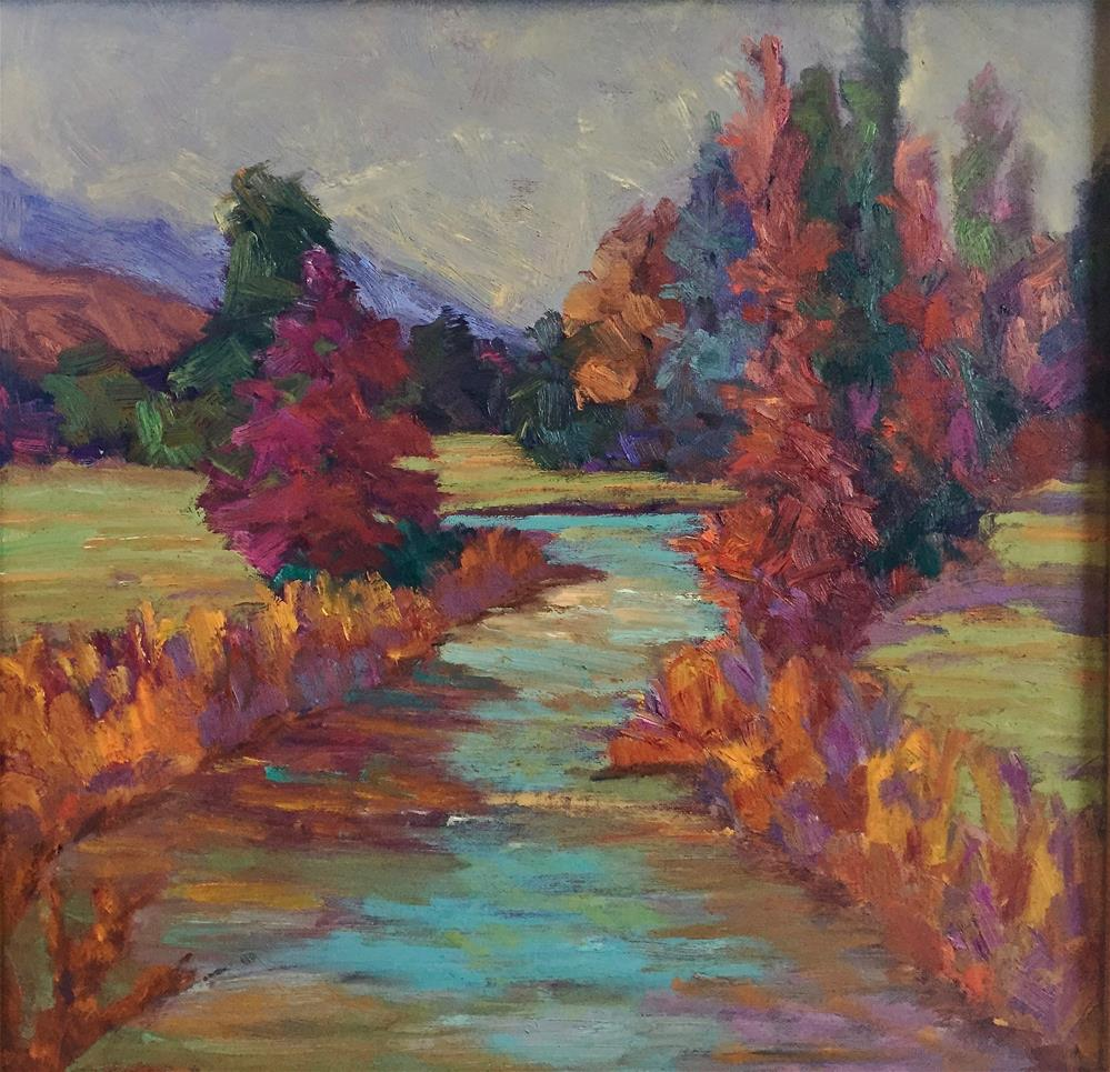 """Lazy River"" original fine art by Liz Zornes"