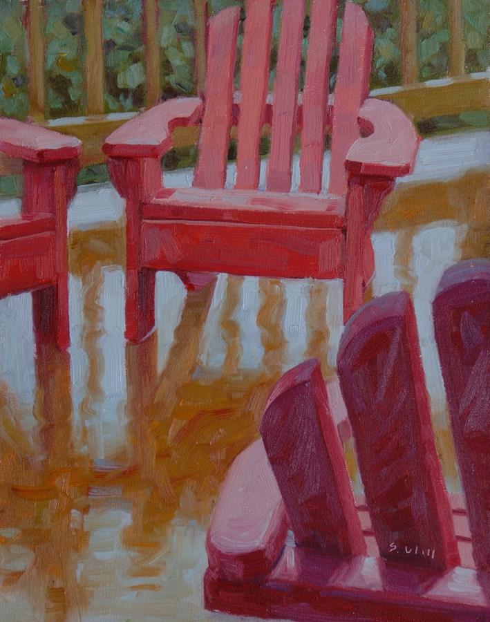 """Adirondacks in the Rain 10x8"" original fine art by Sharon Will"