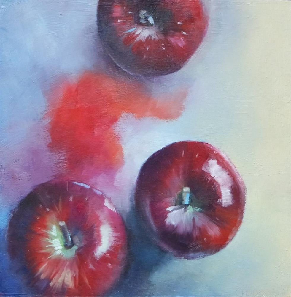 """Red Apples"" original fine art by Cathy Holtom"