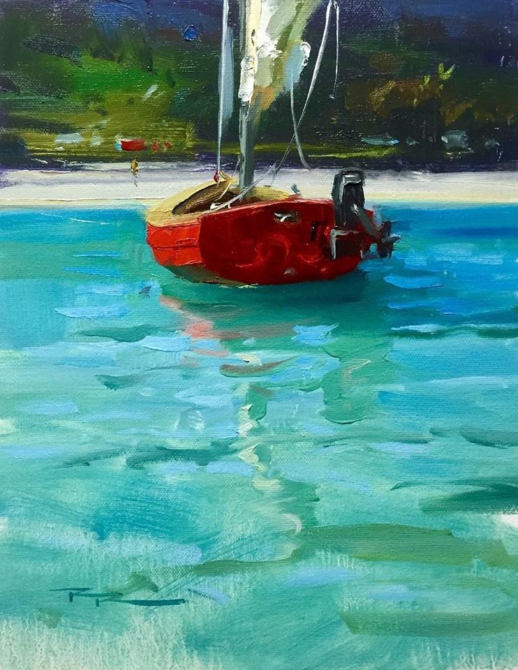 """Gone Ashore"" original fine art by Richard Robinson"
