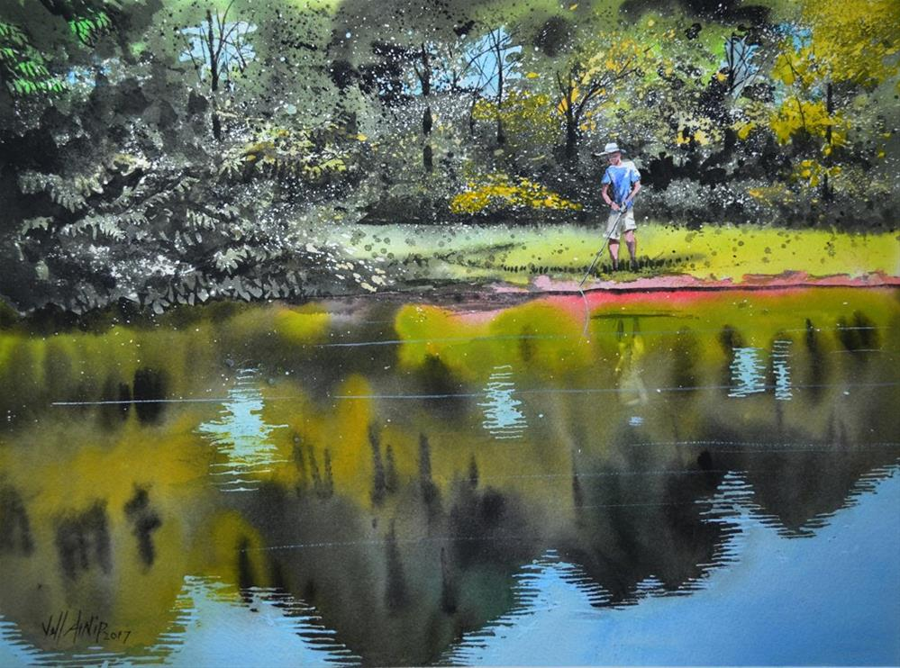 """Bass and Bream"" original fine art by Jeff Atnip"