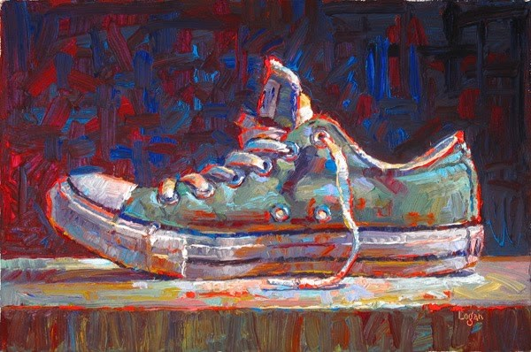 """Low Chuck Green"" original fine art by Raymond Logan"