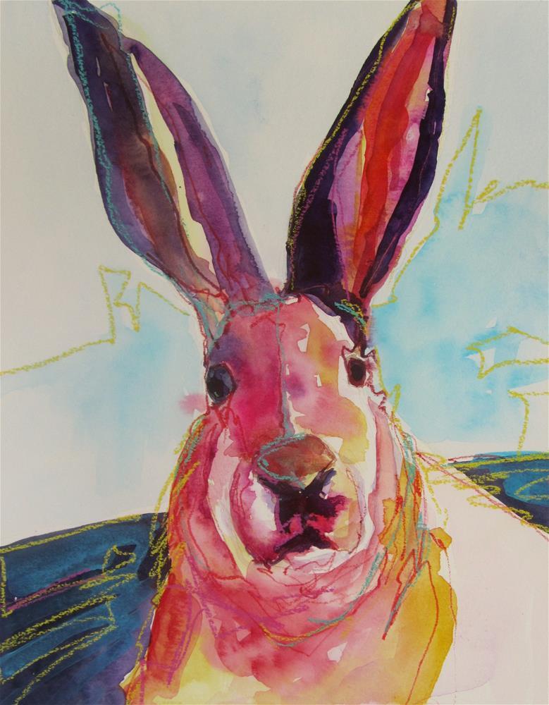 """Hop"" original fine art by Patricia MacDonald"