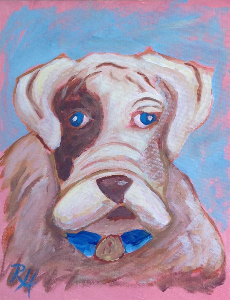 """""""Playful Pup"""" original fine art by Rachel  Holland"""