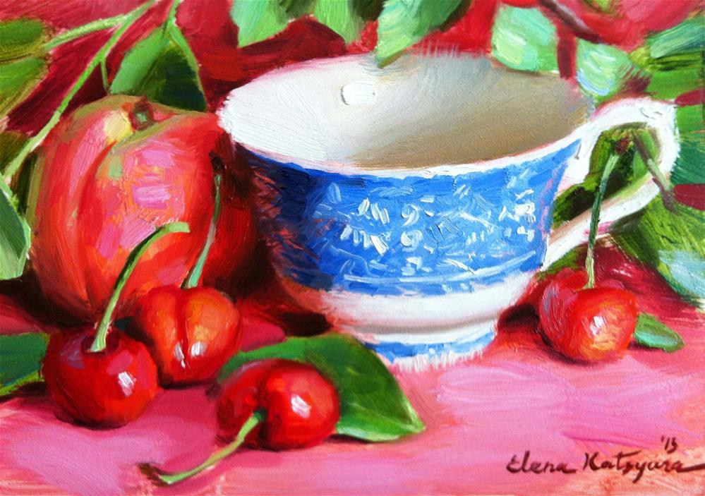"""The Fruit Season is Here"" original fine art by Elena Katsyura"