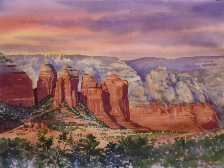 """Coffee Pot, Sedona"" original fine art by Jean Pierre DeBernay"
