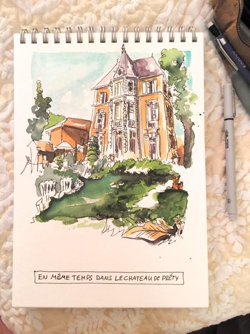 """""""2575 Château de Préty"""" original fine art by Dietmar Stiller"""
