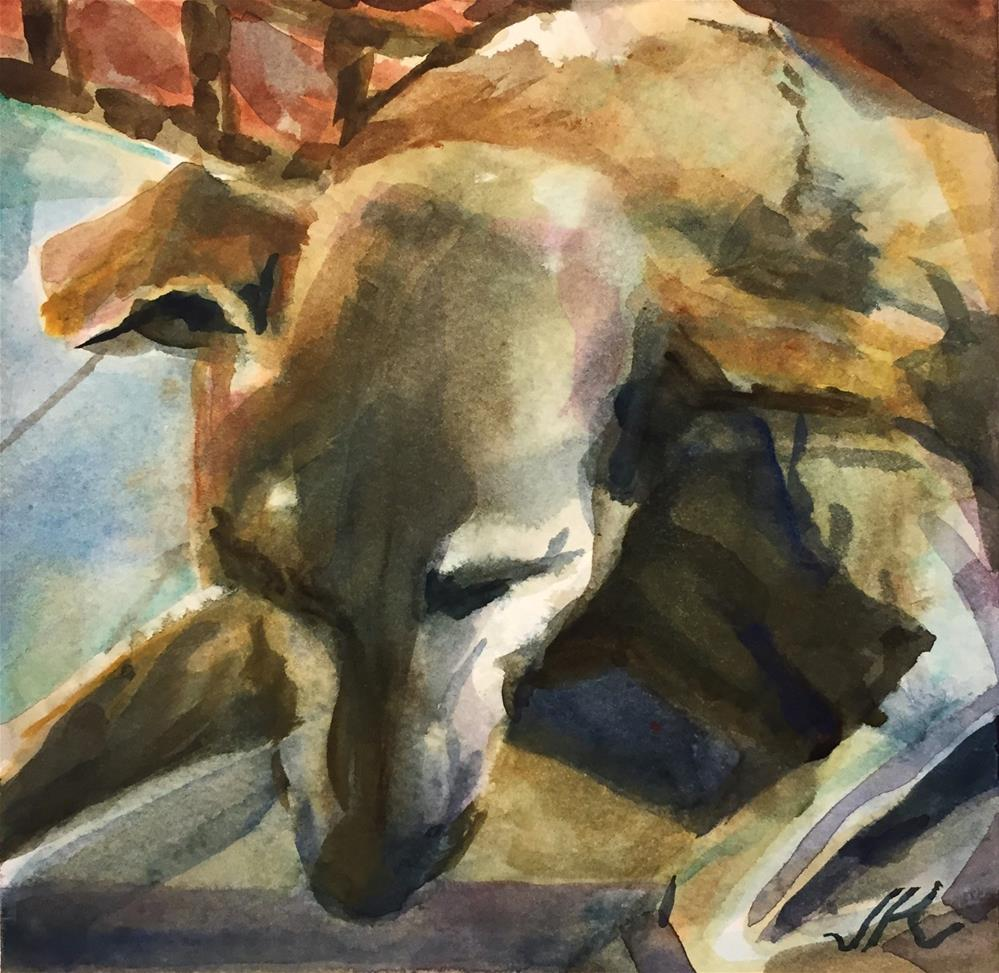 """Sleeping Dog"" original fine art by Jean Krueger"