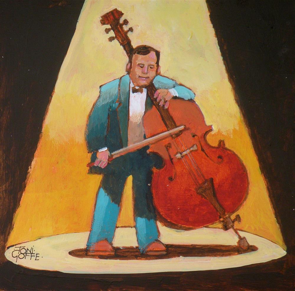 """""""Bass Solo"""" original fine art by Toni Goffe"""