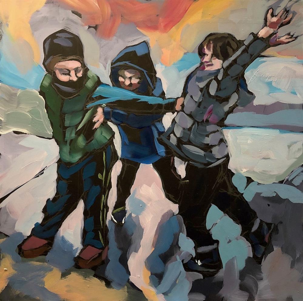"""The Three Forces"" original fine art by Kat Corrigan"