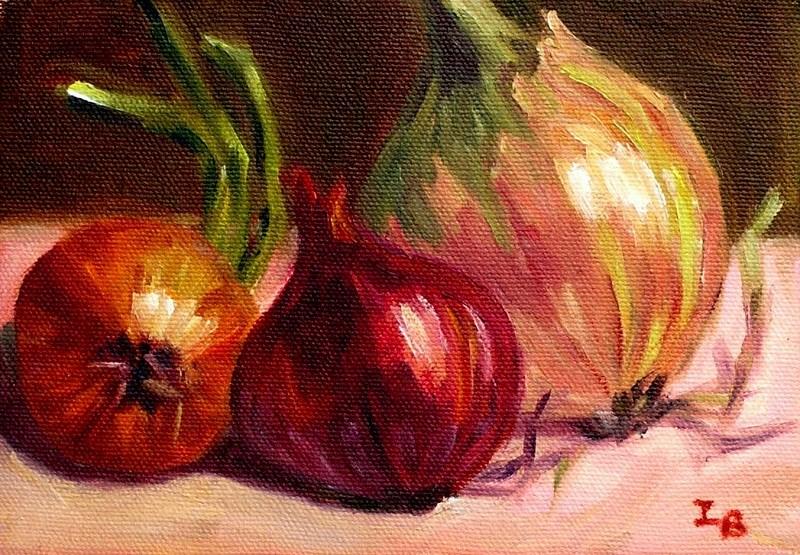 """Onions"" original fine art by Irina Beskina"
