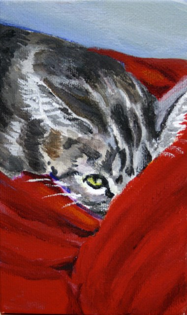 """""""One Eye Open"""" original fine art by JoAnne Perez Robinson"""