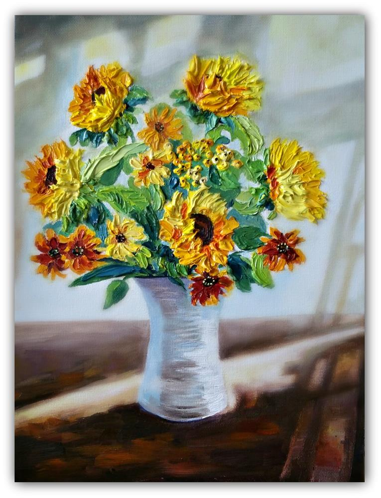 """Sunflower - Sunshine"" original fine art by Dana C"