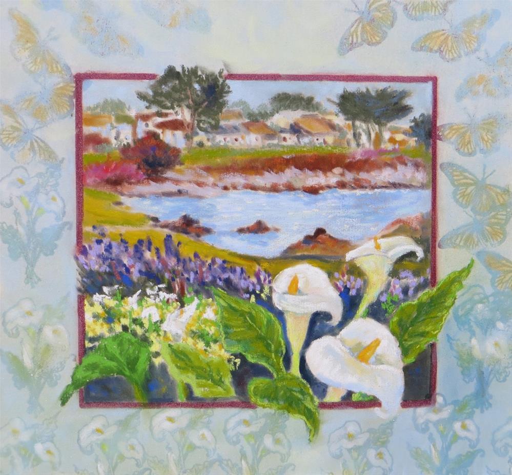 """Callas and Butterflies in Pacific Grove"" original fine art by Rhett Regina Owings"