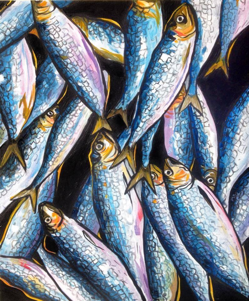 """Fish Story"" original fine art by Lauren Kuhn"