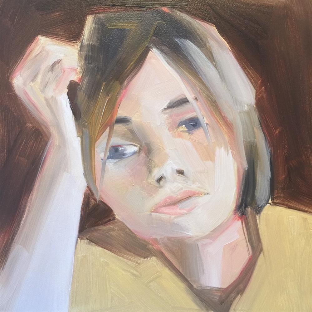 """355 Waiting"" original fine art by Jenny Doh"