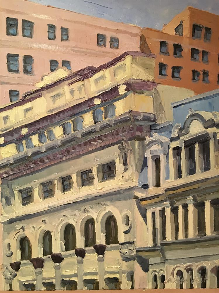 """A piece of Philadelphia"" original fine art by Milda Vaitiekunaite"