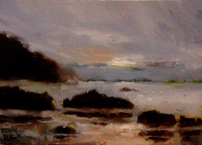 """Dawn on the Coast"" original fine art by Bob Kimball"