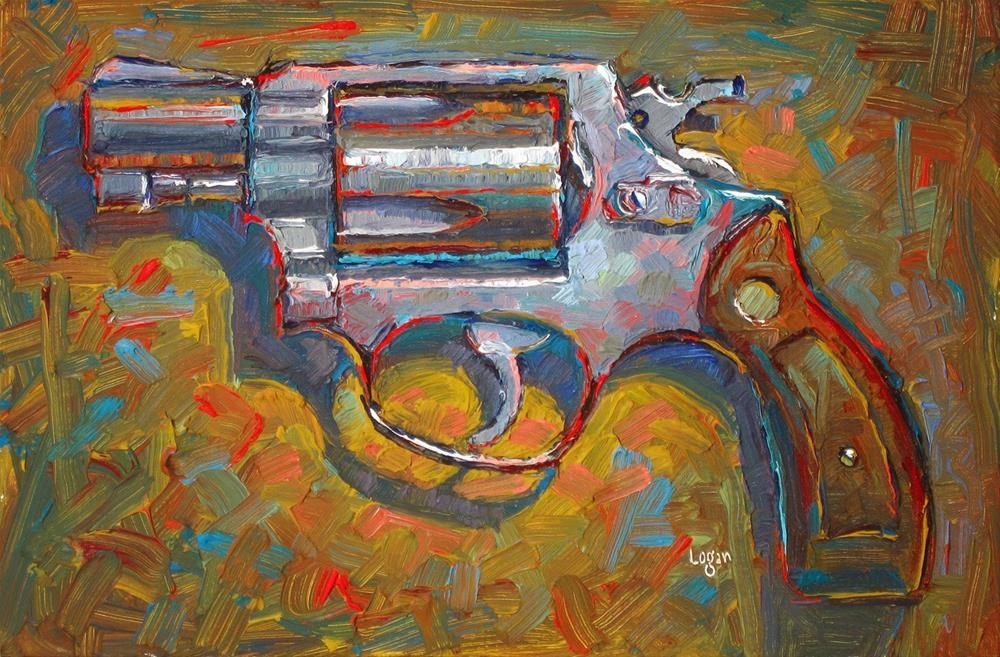 """.38 Snubnose"" original fine art by Raymond Logan"