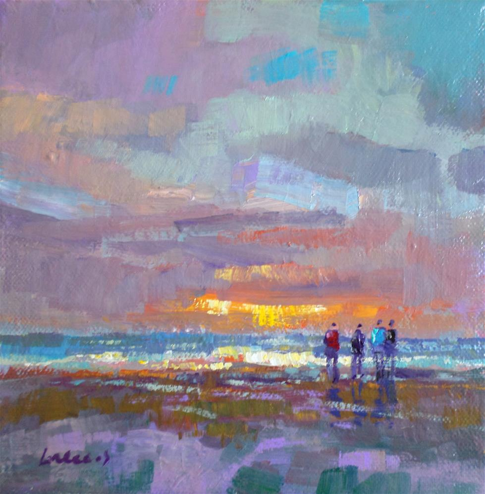 """walk on the beach"" original fine art by salvatore greco"