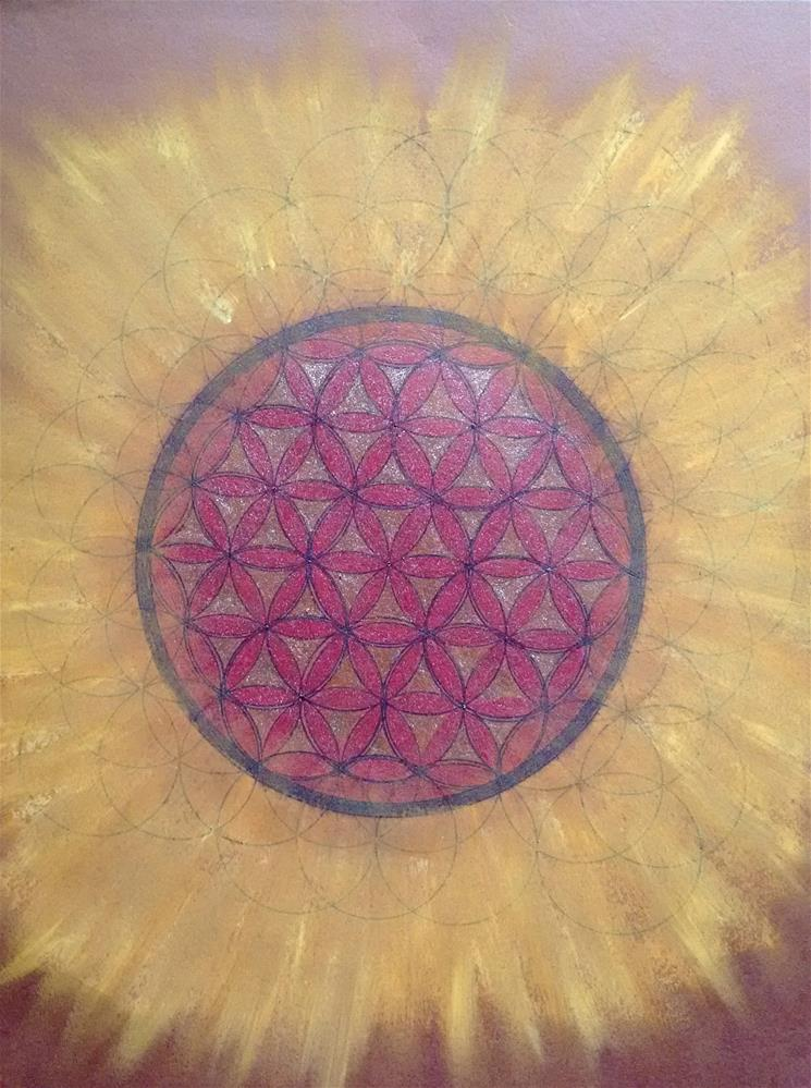 """Flower of Life Shines"" original fine art by Adéla Svobodová"