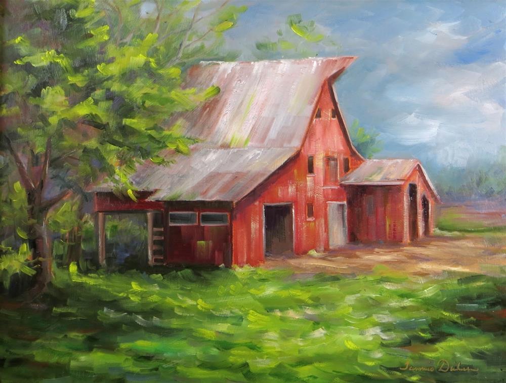 """North Side of Defiance Barn"" original fine art by Tammie Dickerson"