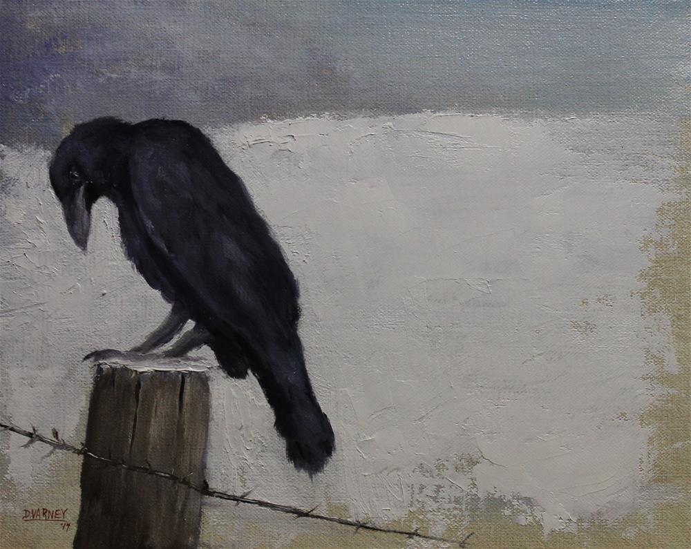 """Raven In Snow"" original fine art by Daniel Varney"