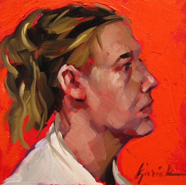 """100 Faces, No. 71"" original fine art by Karin Jurick"