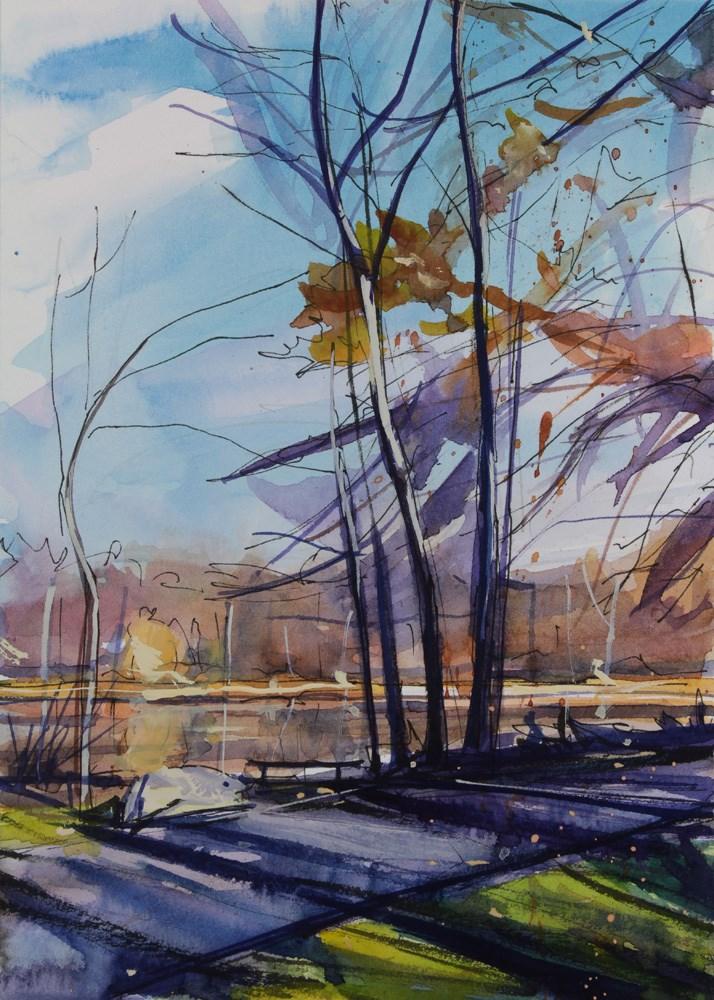 """""""Lakeside"""" original fine art by Chris Breier"""