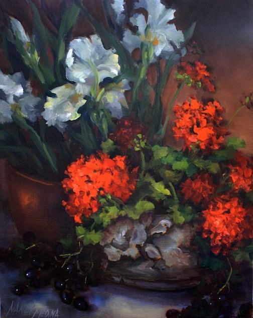 """A Quiet Morning"" original fine art by Nancy Medina"