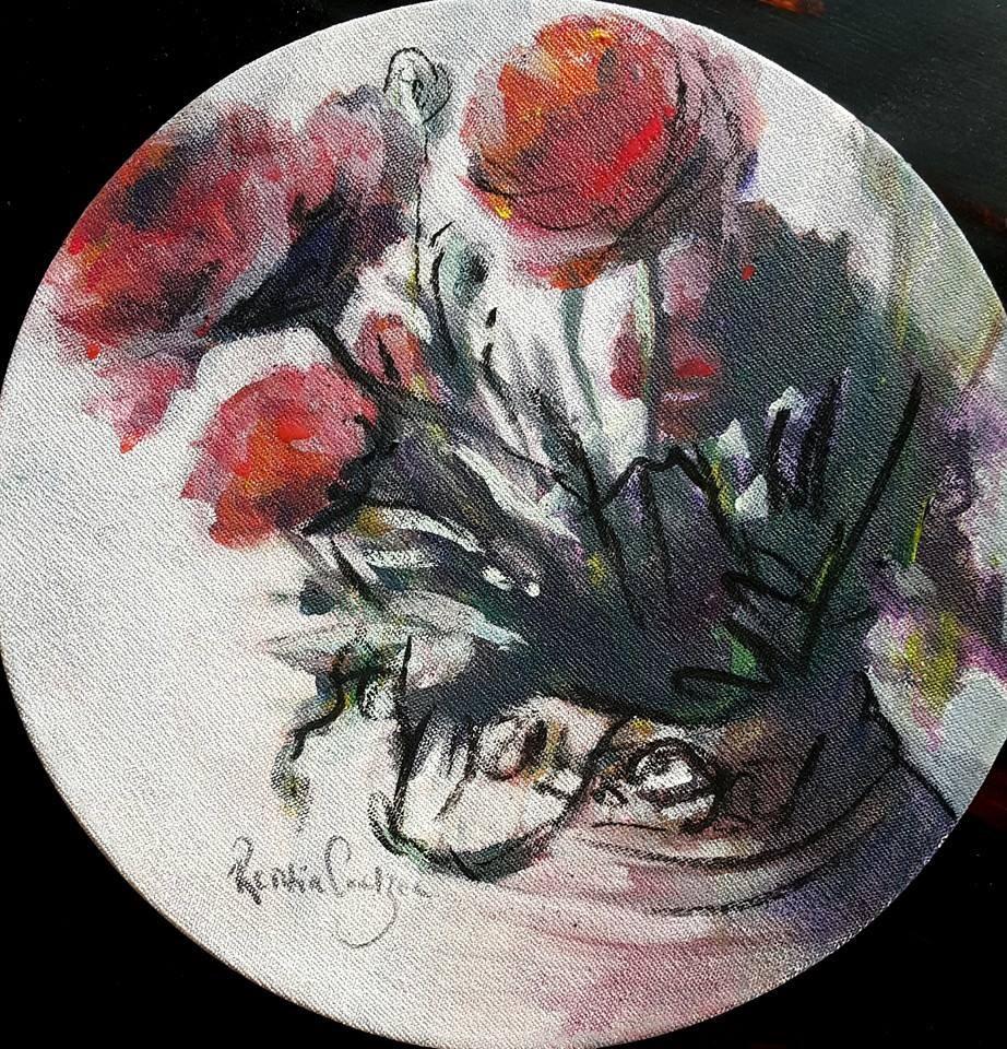 """What Monday blues?"" original fine art by Rentia Coetzee"