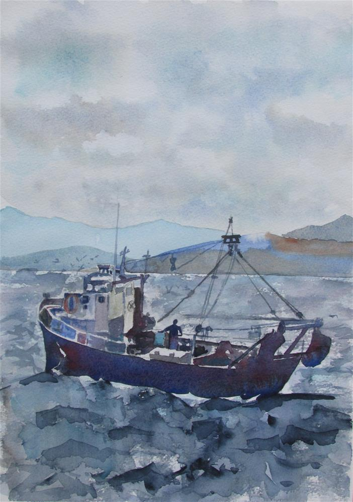 """Sea"" original fine art by Yolanda Moreno"