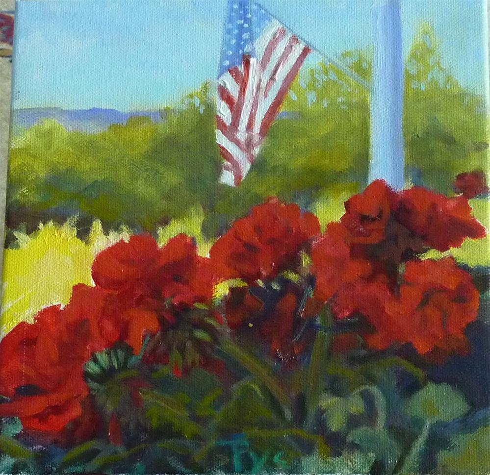 """American Pie 8x8"" original fine art by Mary Pyche"