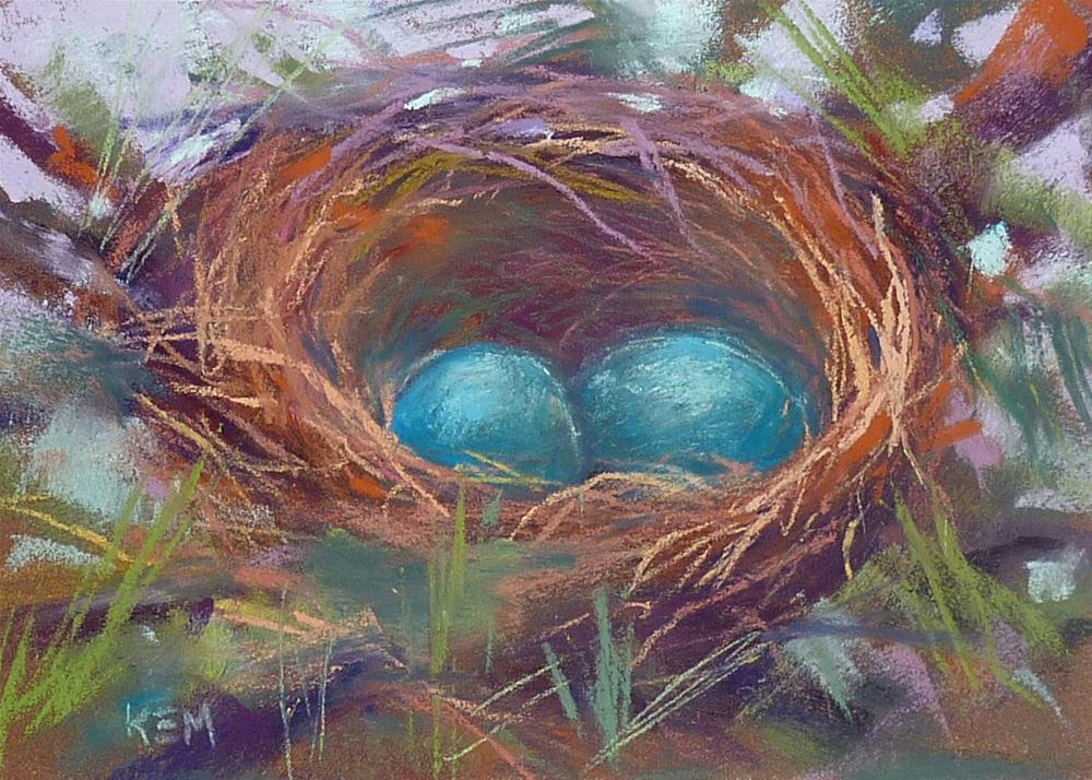 """""""What We Can Learn From Painting a Bird's Nest"""" original fine art by Karen Margulis"""