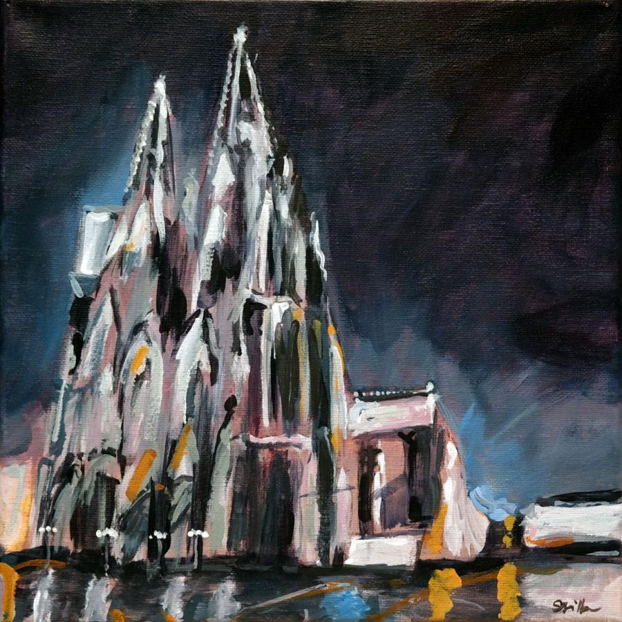 """""""1186 Cologne Cathedral"""" original fine art by Dietmar Stiller"""