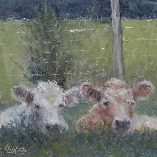"""Friends"" original fine art by Lori L. Lamb"