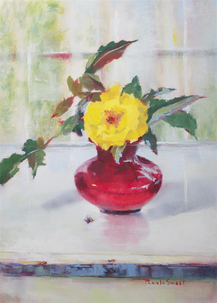 """The Fragrant Yellow Rose"" original fine art by Pamela Sweet"