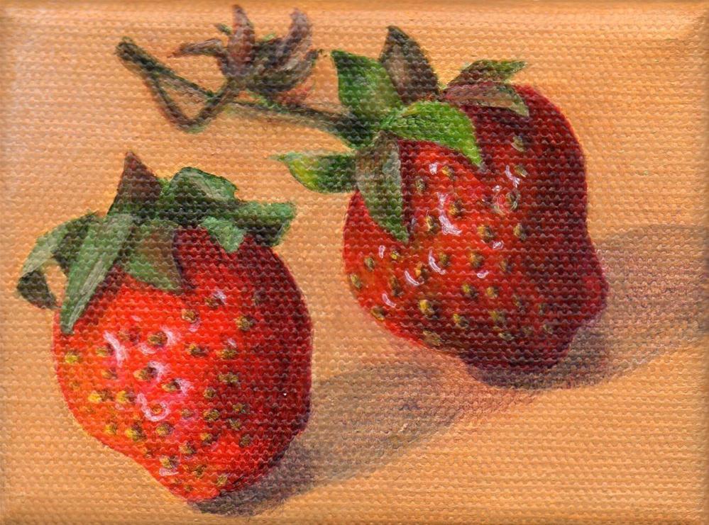"""Local Berries"" original fine art by Debbie Shirley"