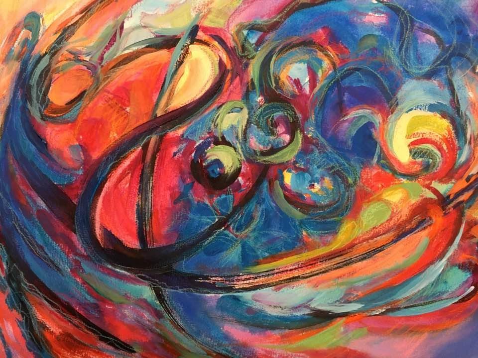 """Black Lines"" original fine art by Lynne Schulte"