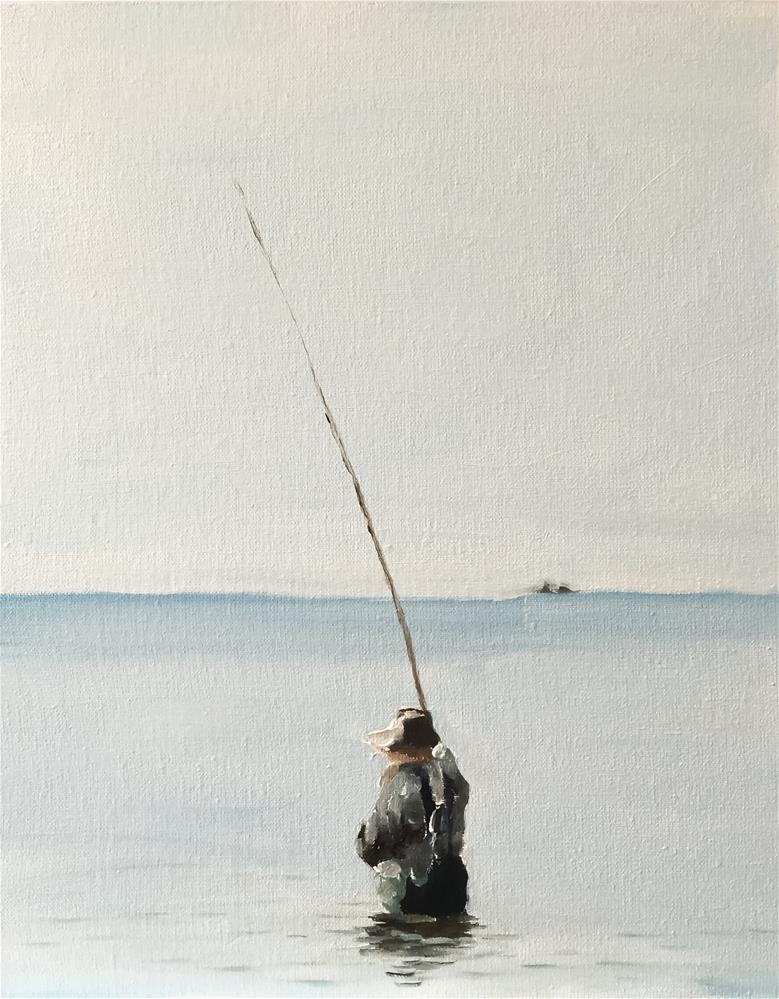 """Fishing"" original fine art by James Coates"