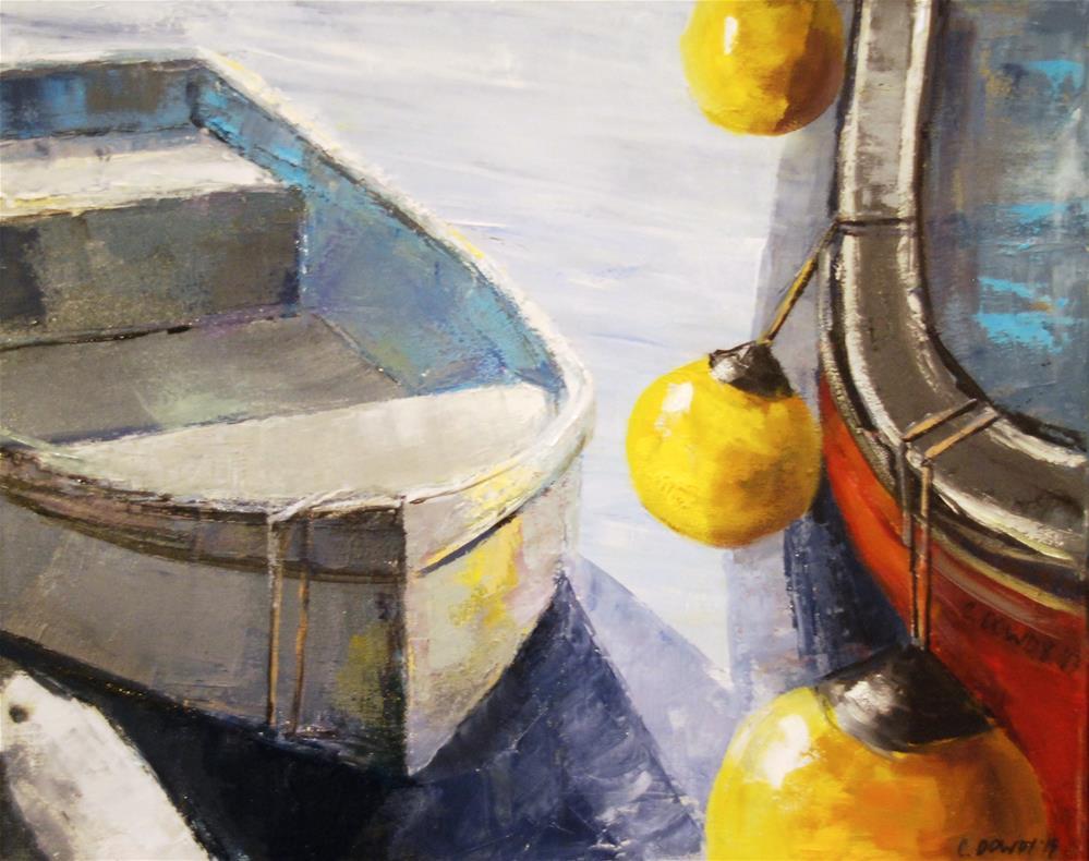 """Boats and Buoys"" original fine art by Christina Dowdy"