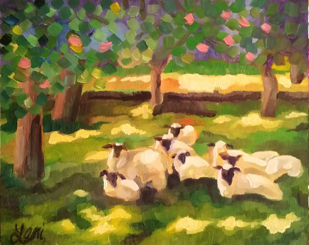 """ The Sheep"" original fine art by Leni Tarleton"