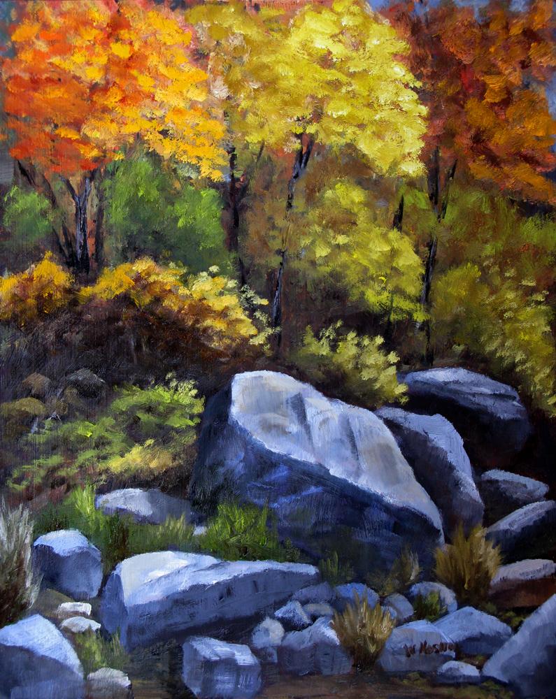 """""""Fall Colors"""" original fine art by William Hoshal"""