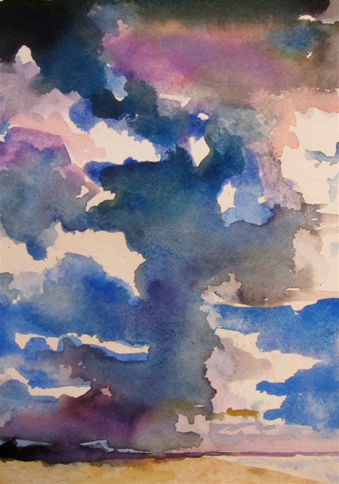 """Big Weather Sky"" original fine art by Patricia MacDonald"