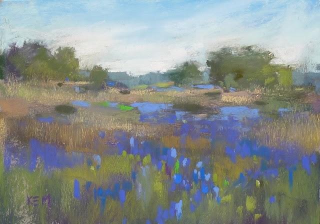 """""""Painting Bluebonnets: Your Questions"""" original fine art by Karen Margulis"""