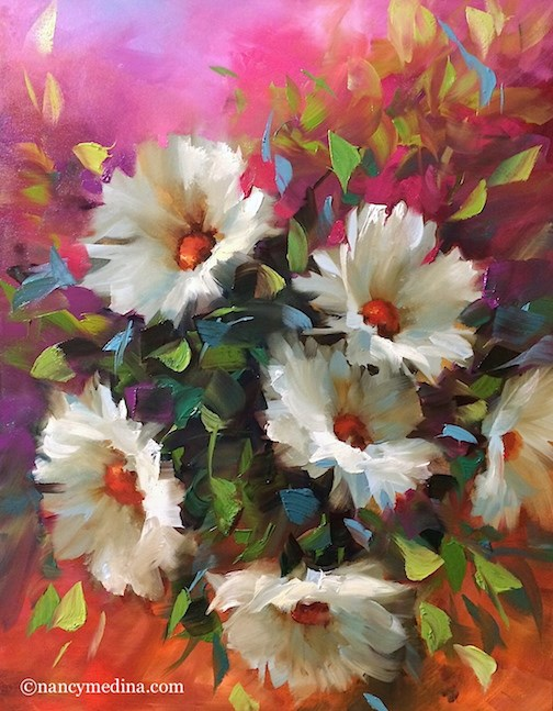 """""""Painting Brilliant Colors Is Here! Registration Is Open"""" original fine art by Nancy Medina"""