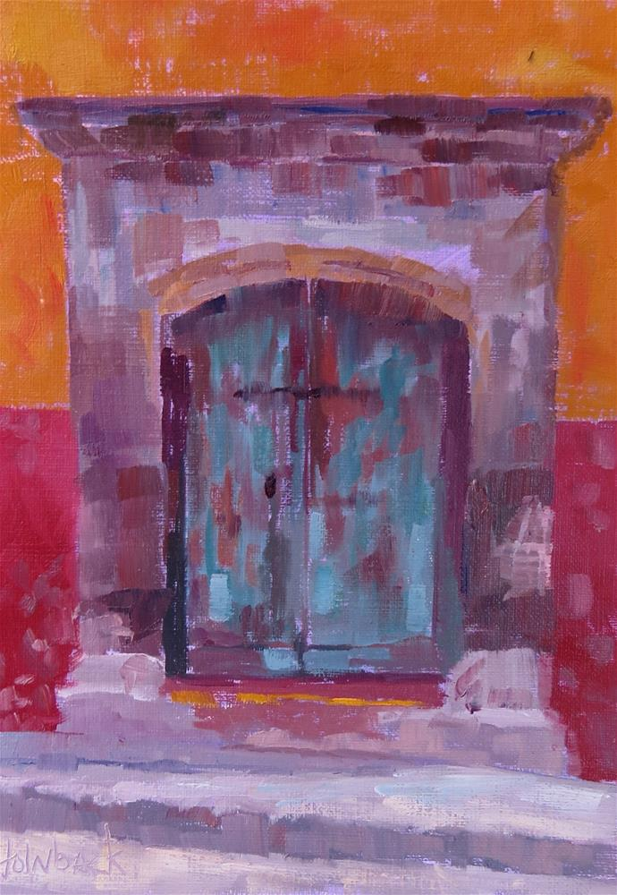 """Puerta Numero Tres"" original fine art by Pam Holnback"