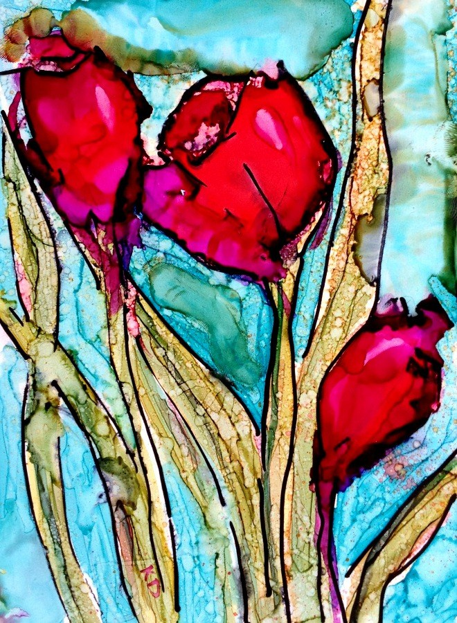 """Tulip 2"" original fine art by Kristen Dukat"
