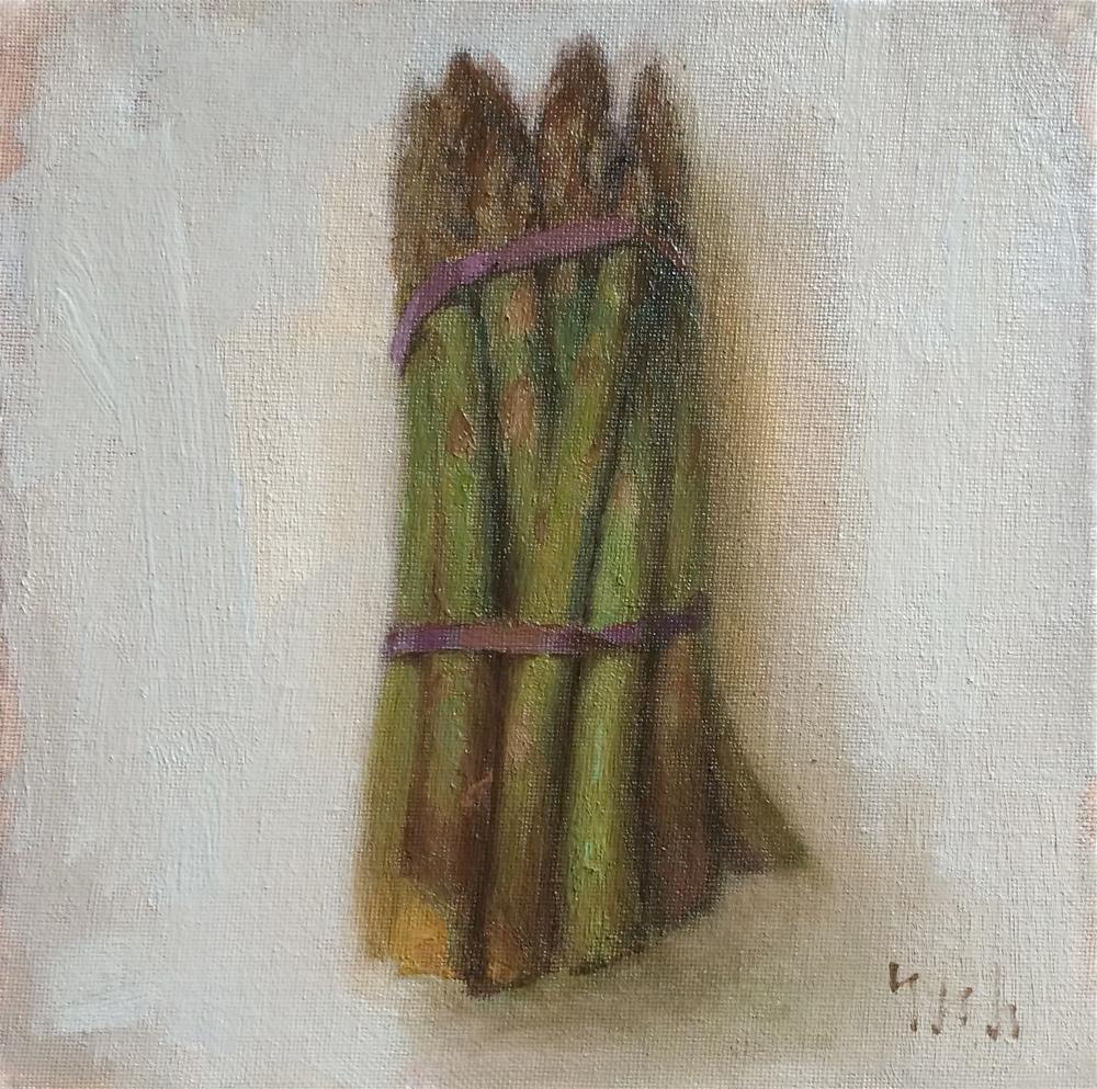"""""""asparagus"""" original fine art by Yuehua He"""